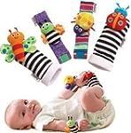 Makarine 4 x Baby Infant Soft Toy Wri...