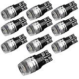 194 LED Light Bulb, Yorkim® T10 Wedge Samsung High Power 1W White LED Light Bulbs 168 192 921 (Pack of 10)