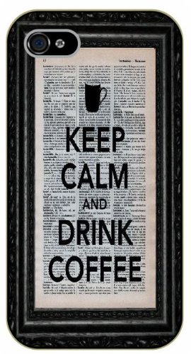 Iphone 6 Case Keep Calm And Drink Coffee - Black Plastic Case / Keep Calm, Funny, Quotes By Shurelock Tm