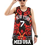 Pizoff Unisex Hipster Hip Hop Sleeveless T Shirts New York Basketball Tank
