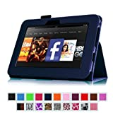 "Fintie Kindle Fire HD 7"" (2012 Old Model) Slim Fit Leather Case with Auto Sleep/Wake (will only fit Amazon Kindle Fire HD 7"", Previous Generation) - Navy"