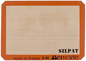 Silpat AE420295-07 Premium Non-Stick Silicone Baking Mat, Half Sheet Size, 11-5/8-Inch x 16-1/2-Inch