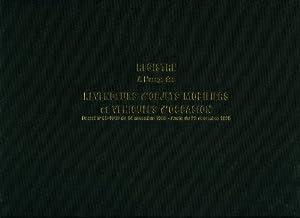 Lebon et Vernay Registre objet mobilier pour garagistes 100 pages Format 25x32cm Italienne Noir