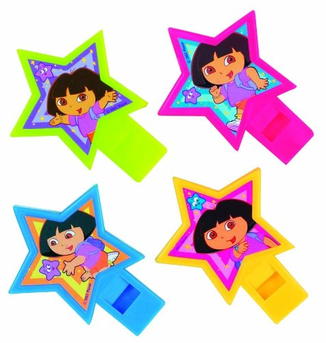 Dora the Explorer Party Whistles 4 Pack