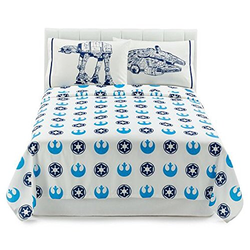 Star Wars Saga Classic Reversible Full Size Bedding Set - Full Comforter, Sheet Set & Pillow Cases spongebob squarepants scribble sponge reversible twin full comforter and full sheet set