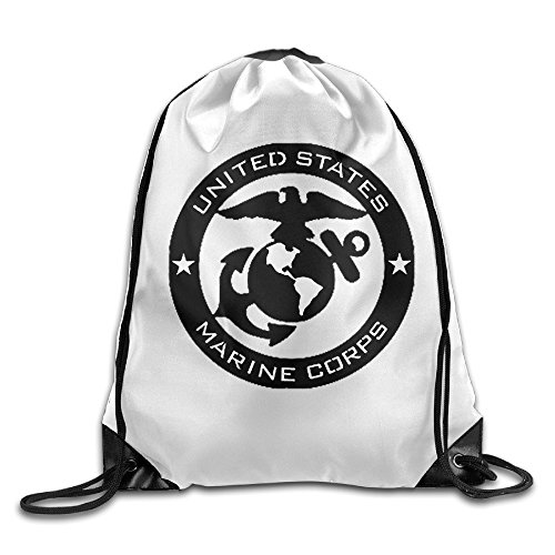 BACADI United States Marine Corps USMC Logo Drawstring Backpacks/Bags.