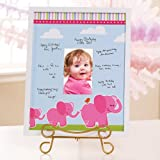Pink Elephants Framed Signature Matte Party Supplies  Pink 