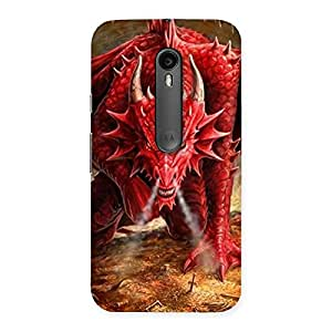 Cute Red Fantastic Dragon Back Case Cover for Moto G Turbo