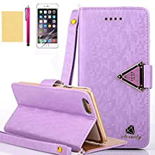 buy Iphone 5C Case, High Grade Pu Leather Notecase [Built-In Card Slots] Diamond Magnetic Closure Foldable Cover [Detachable Straps] Slim Skin For Apple Iphone 5C (Purple)