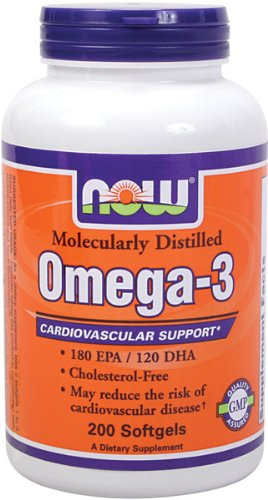 Now Foods Omega-3 1000Mg 200 Softgels
