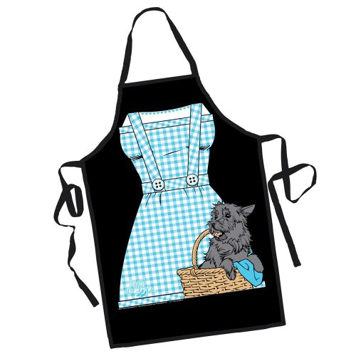 The Wizard of Oz Dorothy and Toto Gingham Dress Classic Movie Apron