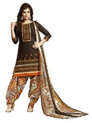 Women Icon Presents Coffee Embroidered Un-Stitched Dress Material WICKFRPCO15012