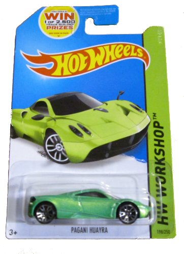 Hot Wheels 2014 Hw Workshop All Stars Green Pagani Huayra 198/250 Code Car - 1