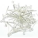 Imagine Perles - Lot 250 Clous tête ronde 25 mm argenté