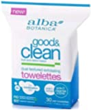 Alba Botanica Good and Clean Dual Texture Exfoliating Towelettes