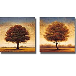 Splendor I & II by Gregory Williams 2-pc Premium Gallery-Wrapped Canvas Giclee Art Set (Ready to Hang)