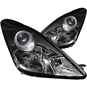 Anzo USA 121122 Toyota Celica Crystal Black Headlight Assembly - (Sold in Pairs)