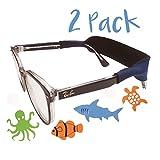 Kids Glasses Strap 2pk with Bonus Deep Sea Adventure Stickers