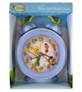 Disney Fairies Twin Bell Tinkerbell Wall Clock - Tinkerbell Clock