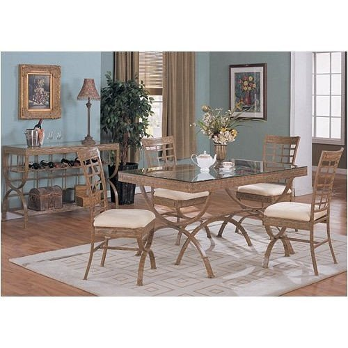Buy low price new 36 x60 glass top dining table set w 4 for Glass top dining table 36 x 60