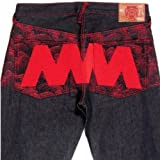 RMC Martin Ksohoh 4A LIKE BLACK red embroidered denim jeans REDM2905
