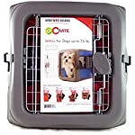 Sportpet Designs Small Pop Open Crate Grey Front with Red Sides for Small Dogs up to 25 Pounds.