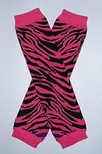 KerrBear Kids - Pink Zebra print Leg Warmers