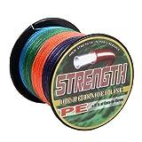 高強度 PEライン 釣り糸 4編 300m 5色マルチカラー