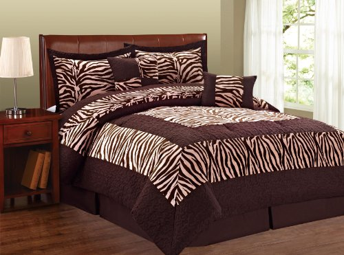 Bnf Home Animal Style Lotus Pink Zebra 6 Pieces Bed In A Bag Set (Queen) front-235776