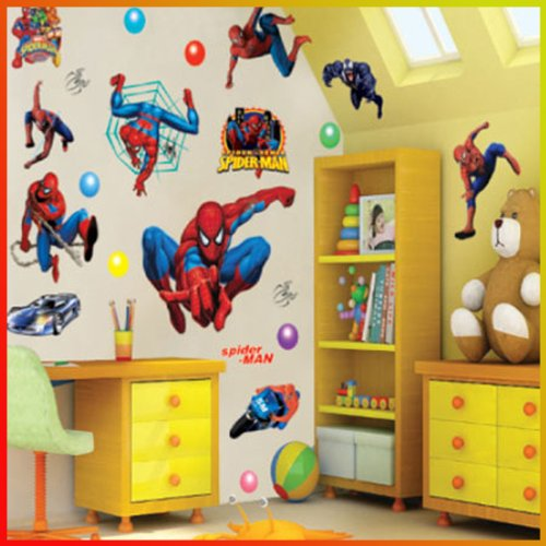 Spiderman Wall Stickers With Decor Decal Art