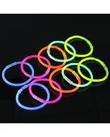 Lot de 100 Bâtons Bracelets Lumineux Fluorescents, Couleurs Assorties