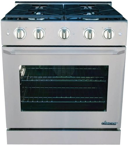 "Dacor Distinctive 30"" Stainless Steel Slide-In Gas Range"