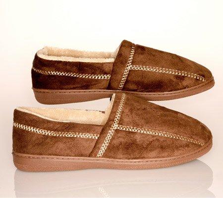 Cheap Men's Slipper Brown Suede Fleece – Small (7-8) – Brown – Small (7-8) (mon0000003250)