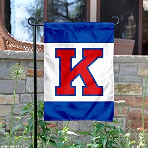 Buy Kansas Jayhawks Big K Garden Flag and Yard Banner by College Flags and Banners Co.