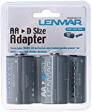 """D"" Size Battery Shell Adapter for AA Batteries By Lenmar"
