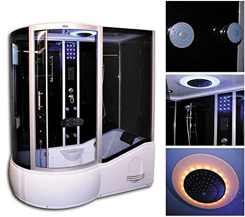 home deluxe all in 4in1 schwarz links duschtempel inkl. Black Bedroom Furniture Sets. Home Design Ideas