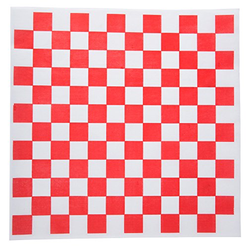 Checkered Deli Basket Liner, 12 X 12 Inches, Red and White, 100 Count (Paper Liners For Food Baskets compare prices)