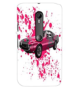 PrintDhaba Car D-2824 Back Case Cover for MOTOROLA MOTO G3 (Multi-Coloured)