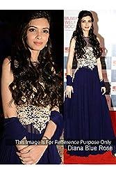 Designer PRUSSIAN BLUE GEORGETTE Bollywood Replica Dress