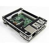 Zebra Case - Raspberry Pi B+ and 2B (Black Ice)