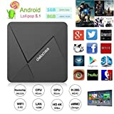 DOLAMEE D5 Android TV Box, Fully Loaded Android 5.1 Lollipop Os Streaming Media Players XBMC / Kodi 16.1 Support 4K UltraHD TV with Rockchip RK3229 Quad-core 2.4G Wifi 1G / 8G