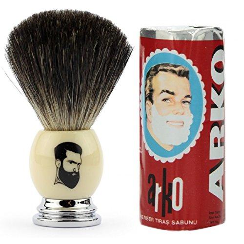 rusty-bob-tejon-de-afeitar-plata-punta-conjunto-de-afeitar-tejon-arko-cerda-cromo-beige-plata