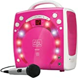 Singing Machine SML-283 Portable CD-G Karaoke Player and 3 CDGs Party Pack - Pink