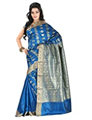 Roopkala Kanjivaram Dark BLue Art Silk Saree