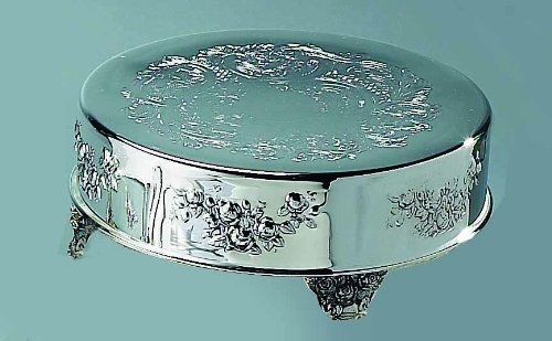 Silver Plated 12 Roses Rose Wedding Cake Stand Plateau Jelisavka Bartoli 1805