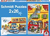 Schmidt Fire Brigade and Police Jigsaws (2x26 Pieces)
