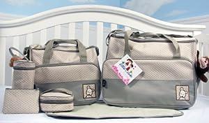 SoHo - Sage Diaper bag with changing pad 6 pieces set