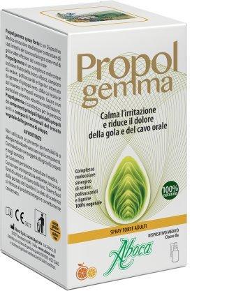ABOCA - PROPOLGEMMA - SPRAY FORTE ADULTI 30 ML proteggendo la mucosa, calma l'irritazione e riduce il dolore della gola e del cavo orale