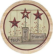 Thirstystone Drink Coaster Set Faith Family Friends