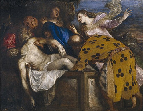 'Titian [Vecellio Di Gregorio Tiziano] The Burial Of Christ 1572 ' Oil Painting, 18 X 23 Inch / 46 X 59 Cm ,printed On High Quality Polyster Canvas ,this High Resolution Art Decorative Prints On Canvas Is Perfectly Suitalbe For Bar Decor And Home Artwork And Gifts